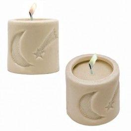 """Molde para hacer 2 velas de navidad """"Estrella y Luna"""". Molde de silicona artesanal 3D DIY. Con este molde conseguirás tus velas más clásicas. Búscalo en Gran Velada."""