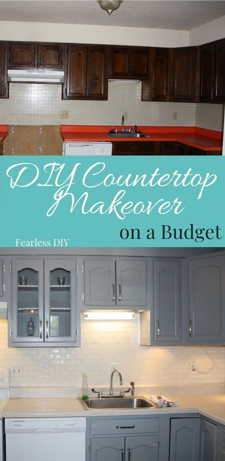Learn How To Do A Countertop Makeover On A Budget With No Artistic
