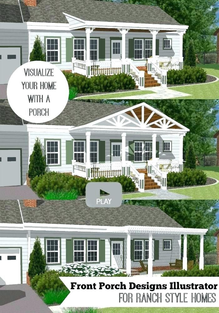 Front Porch Ideas For Ranch Style Homes Adding A Front Porch Best Front Porch Addition Ideas On Classic Ho Front Porch Design Porch Design Front Porch Addition