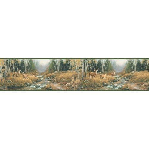 Brewster TLL01611B Tallulah Sage Steele Creek Border Wallpaper