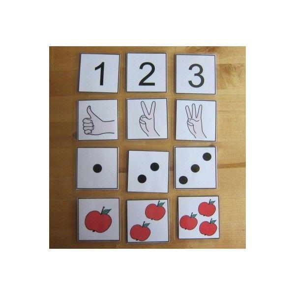 Kartičky - Počítáme do 3. Strukturované učení - Jiný svět