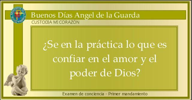 MISIONEROS DE LA PALABRA DIVINA: ANGEL DE LA GUARDA - EXAMEN DE CONCIENCIA