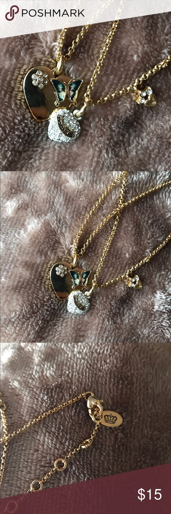 Juicy Couture Necklace Bundle Two gold authentic juicy couture necklaces. Excellent condition, never worn. take advantage and send offers !! Juicy Couture Jewelry Necklaces