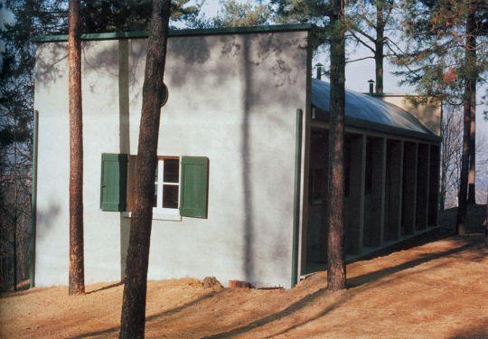 aldo rossi pavilion in the forest of the villa borgo ticino pavia 1973