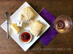 Bannocks recipe to watch with Outlander! Serve warm with butter, cheeses, jam, and Rhenish!