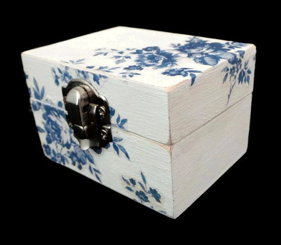 Jewellery Box, Wooden Box, Gift Box, Wood Box, Christmas Gifts, Gifts for Mom, Xmas Present. Decoupage Box. Small Storage Box, Gifts for Her
