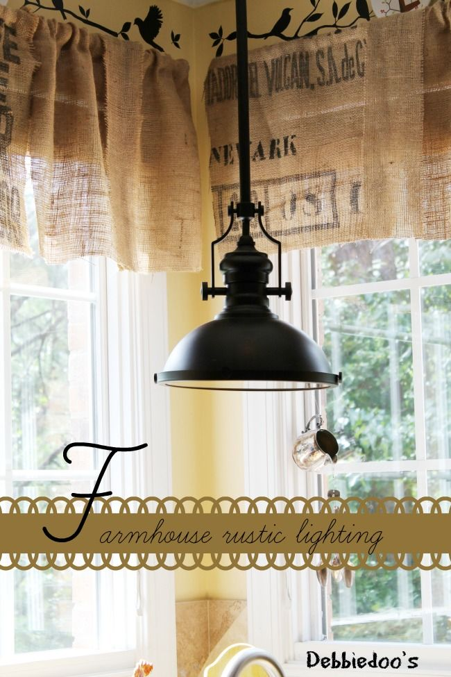 A Little DIY Light Change Makes For Charming Farmhouse Style In The Kitchen