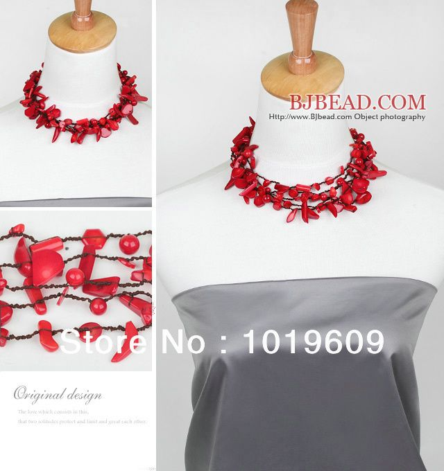 Free Shipping amazing design multi strand red coral necklace-in Power Necklaces from Jewelry on Aliexpress.com | Alibaba Group