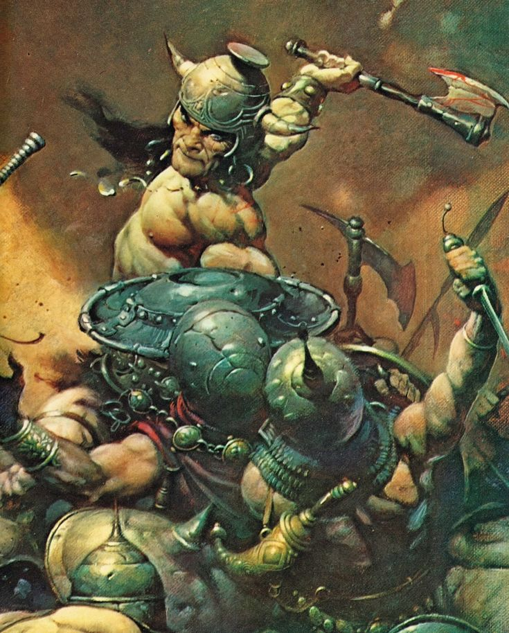 Conan by Frank Frazetta - Final Art (Detail)