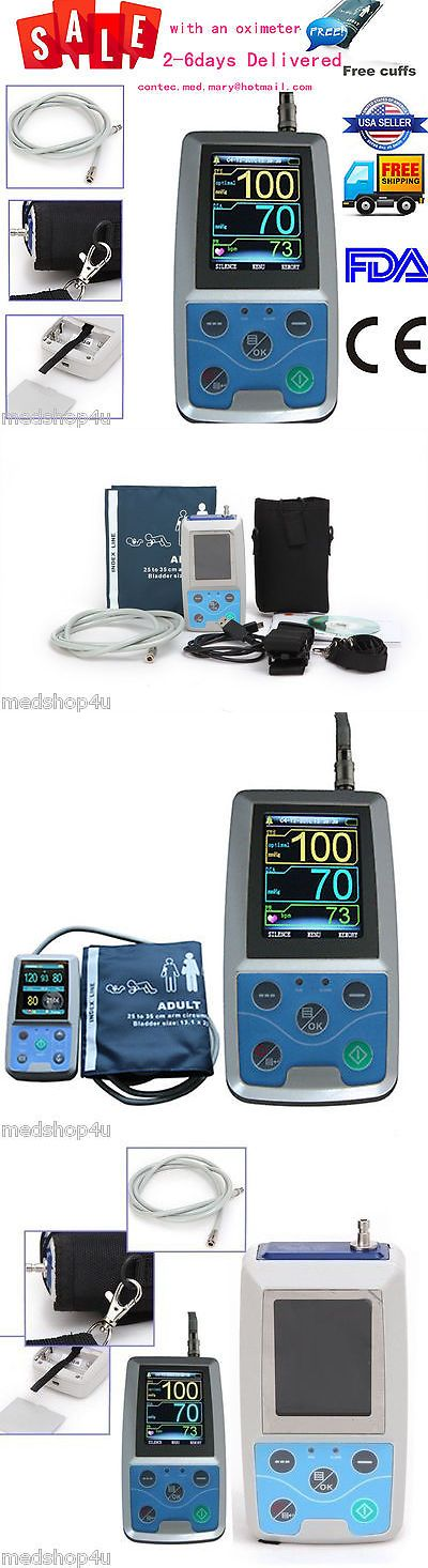 Blood Pressure Monitoring: Contec Nibp Monitor 24Hr Ambulatory Blood Pressure Holter +Software+Oximeter.Fda -> BUY IT NOW ONLY: $149 on eBay!