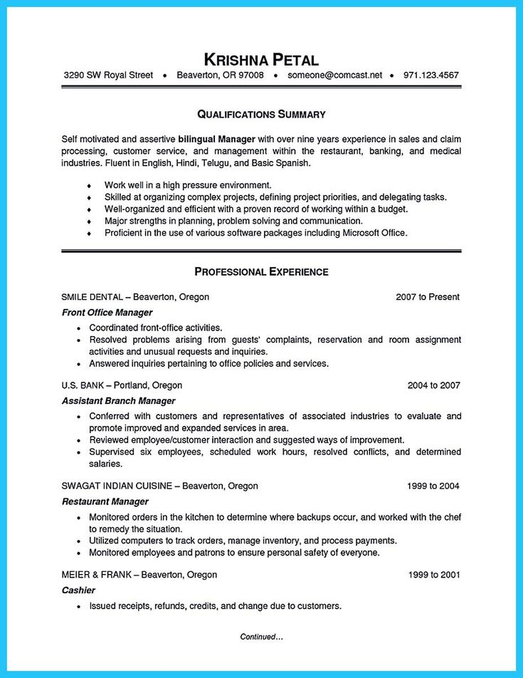 11 best property manager resume images on Pinterest Resume - resume manager