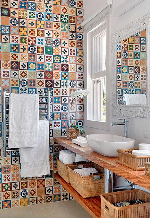 Baldosas decorativas para cuartos de baño: cerámica brasileña