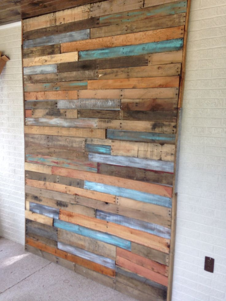 My Pallet Wall In 2019 Wood Wall Design Diy Pallet