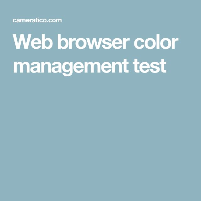 Web browser color management test