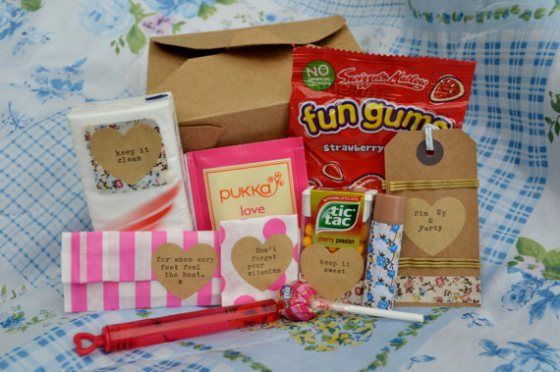 You get sweets in this hen party survival kit! Find out why >> http://henboxhens.wordpress.com/2013/10/19/top-5-bachelorette-survival-kits/ #bachelorette #hen #party #survival #hangover #kit