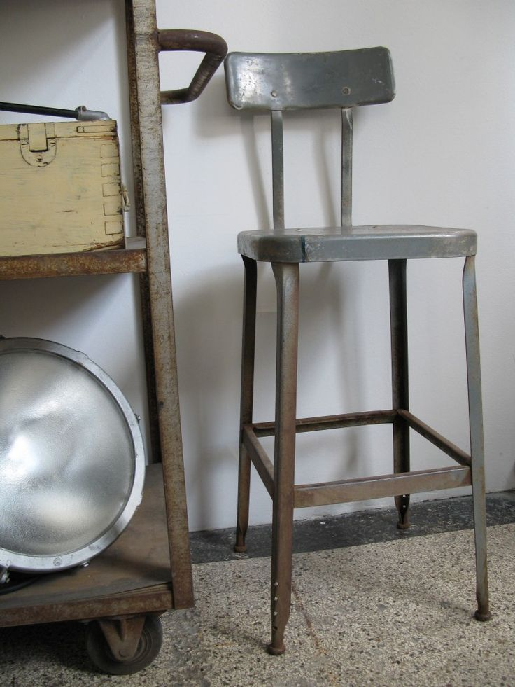 Vintage Industrial Chair...love Finding These At Flea Markets