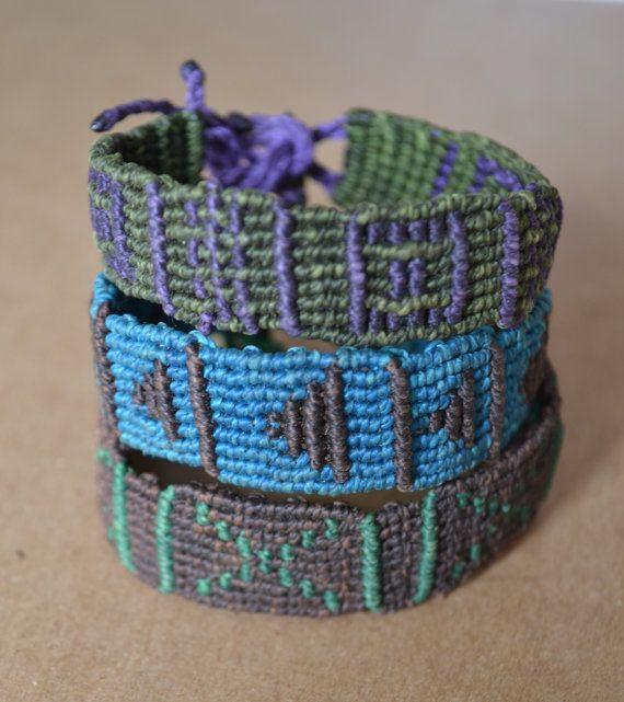 Macrame Friendship Bracelets/ Stacked Bracelets/ by SpiritYSol