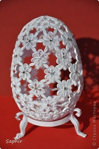 ♥Lovely quilled egg via stranamasterov.ru.♥ HAPPY EASTER (Apr 20th)
