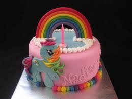 rainbow my little pony cake - Google Search