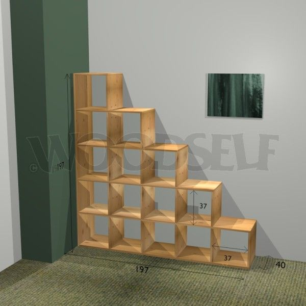 Stair bookcase - woodworking plan