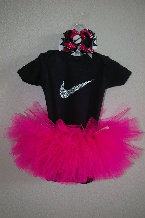 Baby Nike Inspired Tutu Combo by BowtasticalBowtique on Etsy, $45.00