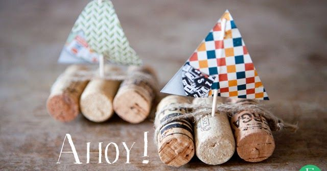 esik floresik: Ahoy! #diy #doityourself #diyproject #project #crafts #kids #gift #giftidea #sailboat #boat #marine #sea #sail #cork #winecork