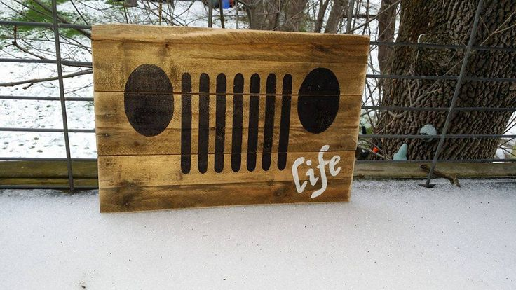 Rustic Pallet Jeep Life Decor by R2KPallet on Etsy