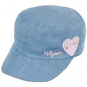"""Baby Girls Ruby Mao Cap - the perfect """"First Baby Girls Hat"""". Super soft and lightweight with 50+ UPF sun protection!"""