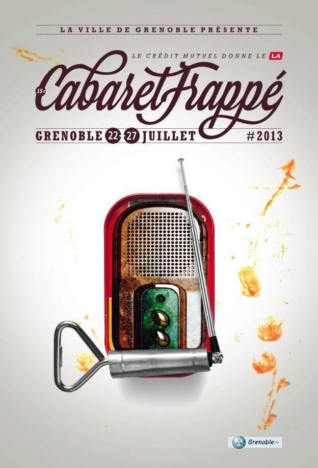 Cabaret Frappé #CabaretFrappé #riffx #musique #affiche #festival #creditmutuel #Grenoble #concert