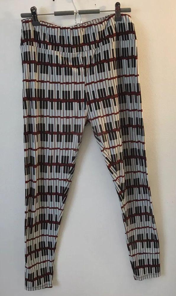 778c274a18355 Lularoe Leggings Piano Key Print Women's Size Tall And Curvy TC | eBay