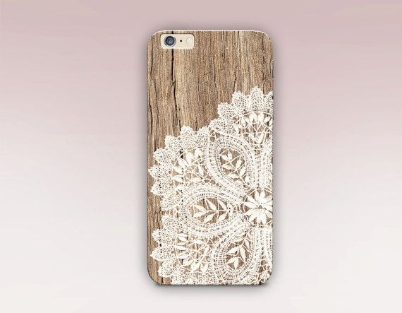 Wood Lace Phone Case For iPhone 6 Case iPhone 5 Case by CRCases