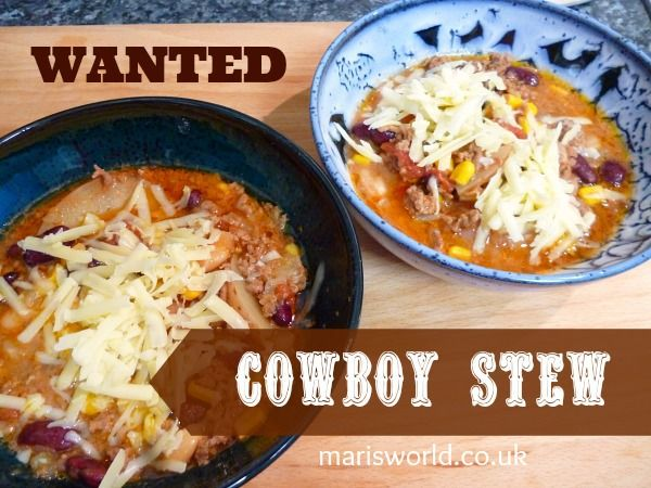 Cowboy stew slow cooker recipe - mincemeat and beans plus a few other bits for a delicious family meal