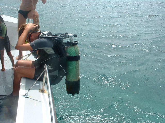 Préparer la bascule arrière - Plonger Marie Galante - 2004