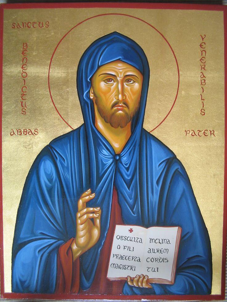 san Benedetto abate per mano di Assunta Fraraccio