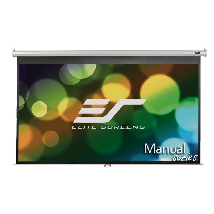 Elite Screens Manual, 100-inch 16:9, Pull Down Projection Manual  Projector Screen with 24-inch Drop, M100XWH-E24