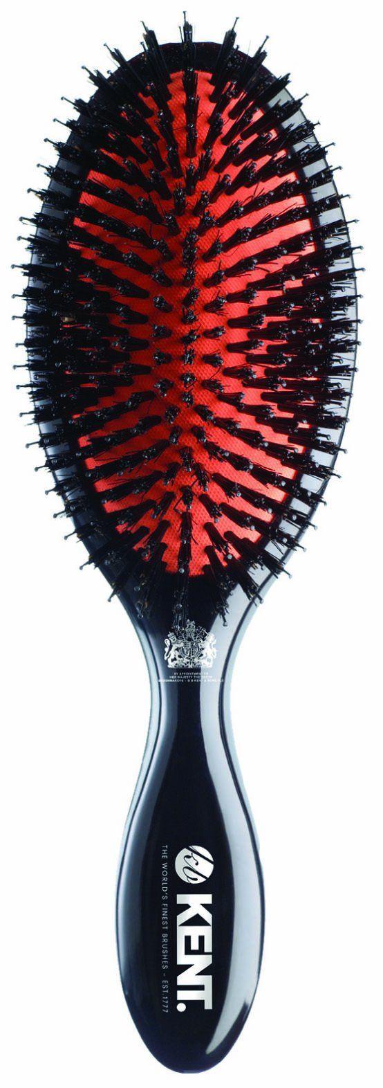 Kent Brushes Oval Cushion Hairbrush, Ruby CSML, Large, 6 Ounce