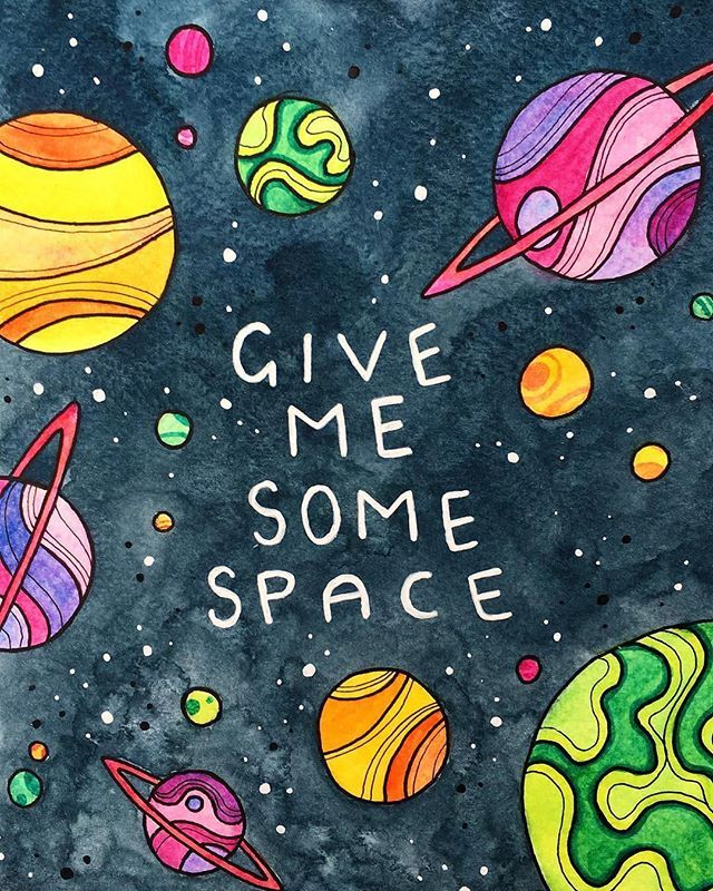 What does space mean to you? Space to breathe? Space to be? Space to think? Theres a lot of space weather on the way with the full moon eclipse this week. Take the space you need to look after yourself  Image by @maxine.sarah.art