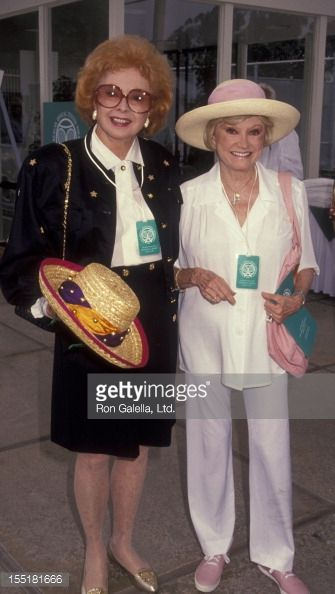 Audrey Meadows and Phyllis Diller attending the Third Annual Nancy Reagan Tennis Tournament at the Riviera Country Club in LA. October 5, 1991.