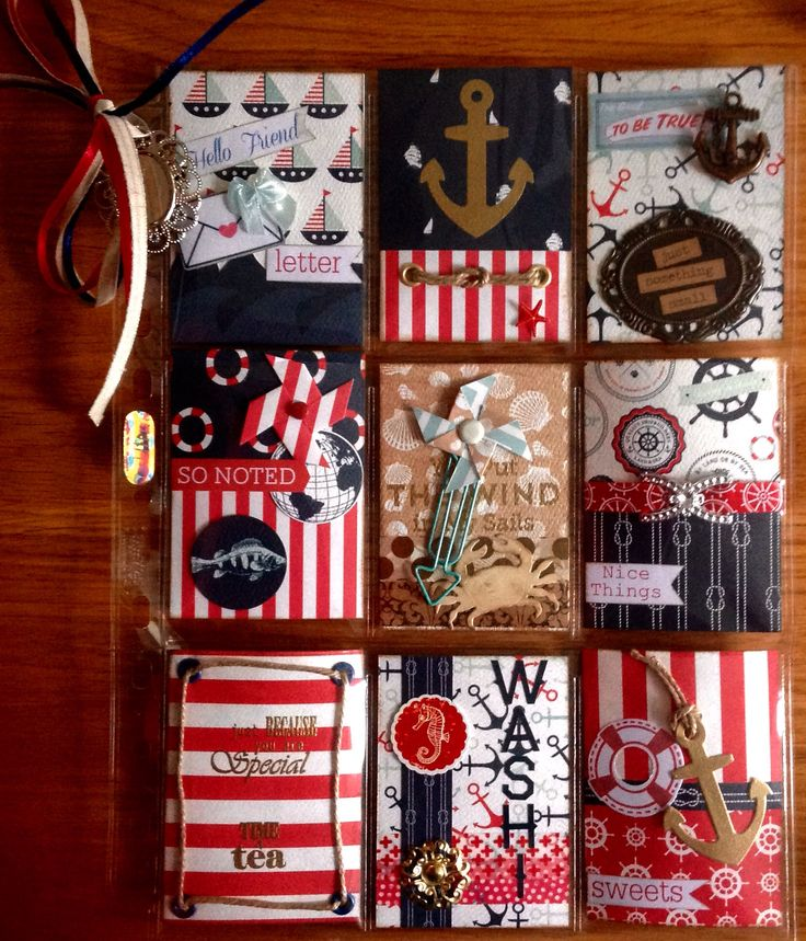 Nautical Pocket letter Little bit too much for me but I like the theme