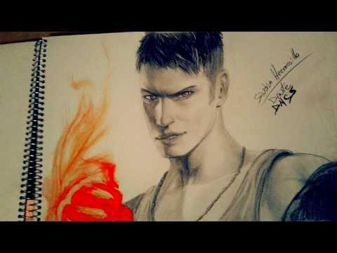 Dibujo a lápiz Dante DMC5 - YouTube