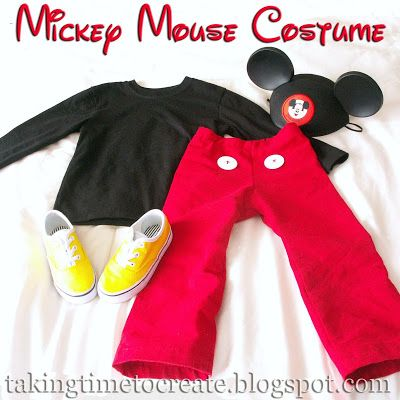 Taking Time To Create: A {Simple} Mickey Mouse Costume