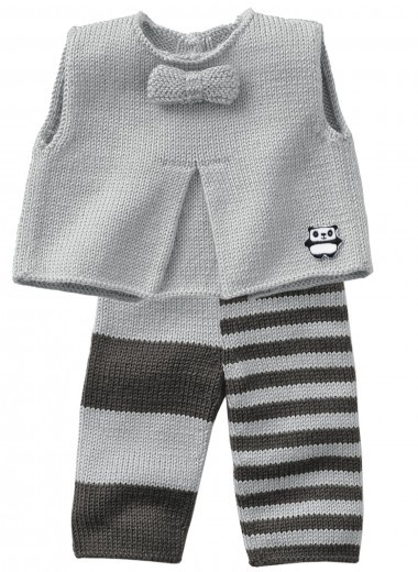 Mag 160 - #13 - Vest, trousers and bootees knit