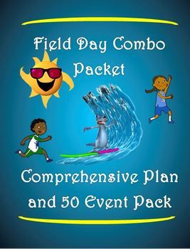 "The following product is a combination of 2 of my previous products: 1) Field Day Plan - ""Surf's Up"" and 2) Fired up Field Day! - ""50 Fun Events"". Together, these products help you build a yearly Field Day program that has a ""top notch"" structure with the flexibility to change out events year after year, keeping things fresh and exciting."