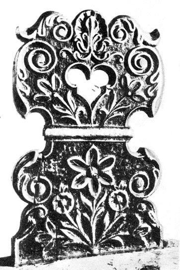 Faragott széktámla (1803-ból, Veszprém m.) Bp. Néprajzi Múzeum