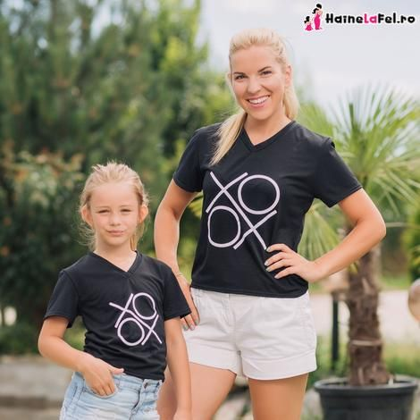 set tricouri pentru mama si fiica XOXO