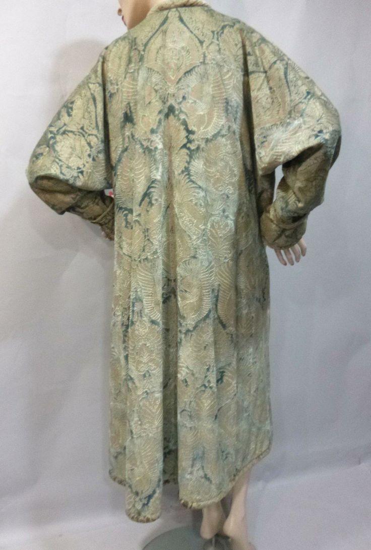 Manteau du soir fortuny vers 1910 velours de soie bleu - Manteau dessin ...