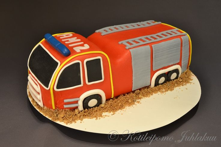 Ami's fire truck cake