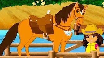 Princess Belle take Care of the Horses Принцесса Белль ухаживать за лошадьми de los Caballos - YouTube