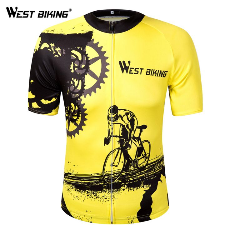 WEST BIKING Bike Short Sleeve Team Women/Men Yellow Spandex Cycling Jersey Tops/Short Sleeve Bike Clothing Summer Cycling Jersey //Price: $33.95 & FREE Shipping //     #hashtag1