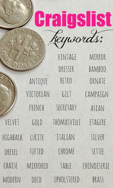 10 Craigslist Tips & Tricks: How to find the best vintage & antique furniture on Craigslist by using keywords!